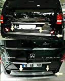 Boa Line - Juego de protectores de parachoques trasero cromado y portón trasero, compatible con Mercedes Benz Vito W447 2014up