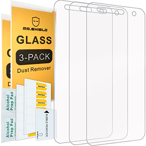[3-PACK]- Mr.Shield Designed For LG Fiesta LTE [Tempered Glass] Screen Protector [0.3mm Ultra Thin 9H Hardness 2.5D Round Edge] with Lifetime Replacement