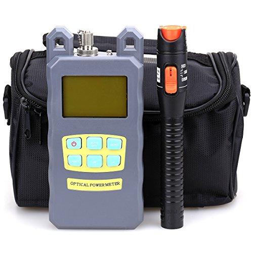 Kit de FTTH fibra , 3packs en un mW plástico localizador Visual de fallos medidor de potencia óptica de fibra óptica 70dBm~+ - 10 dBm con fibra vacío bolsa de herramientas