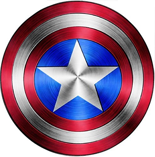 Stickersnews 15076 - Adesivo con scudo di Capitan America (film Avengers), Altezza 30cm