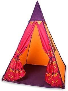 Glzcyoo Tent Play – barn teepee inomhus och utomhus bärbar speltält, tipi tipi-tält för barn polen Indoor Playhouse barn l...