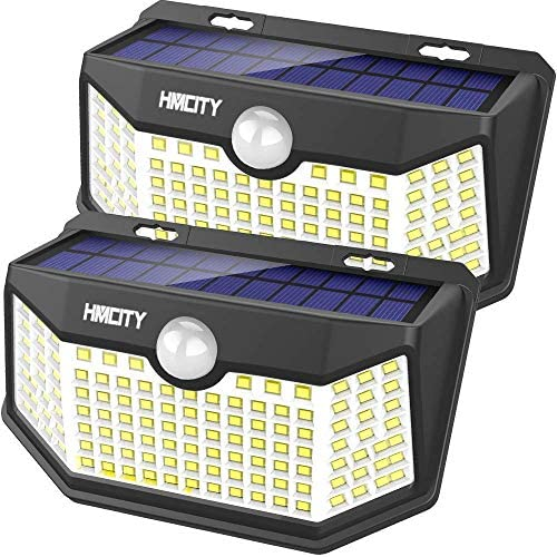 Hmcity Solar Lights Outdoor 120 LED with Lights Reflector and 3 Lighting Modes Motion Sensor product image