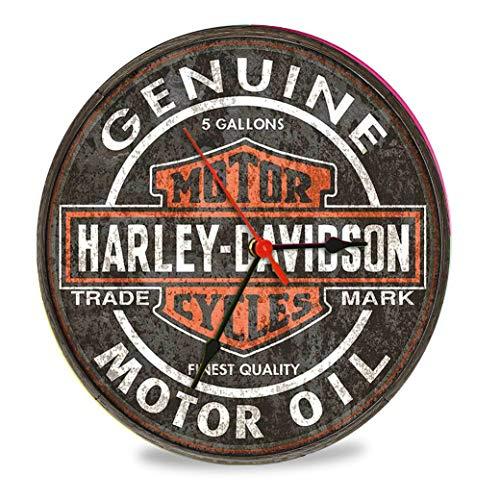 The Shizzle Print Co Harley Davidson Vintage Retro Orologio in vetro