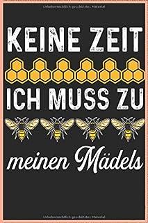 Keine Zeit Ich Muss Zu Meinen Mädels Imker Bienen 120 Seiten Kariert Imker Imkerei Bienen Honig Notizbuch A5 6x9 Zoll Heft - Geschenk Für Bienenzüchter Imker Bienenwaben Notizbuch