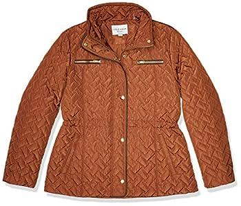 Cole Haan Women s Quilted barn Jacket Pecan Medium