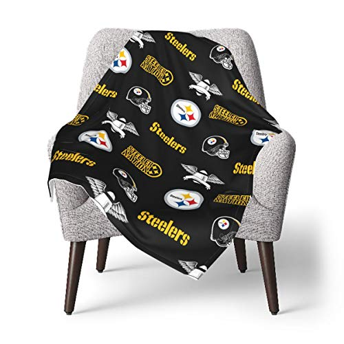 Football Fans Baby Blanket Soft Warm Fleece Newborn Receiving Blanket for Crib Stroller 30' x 40'