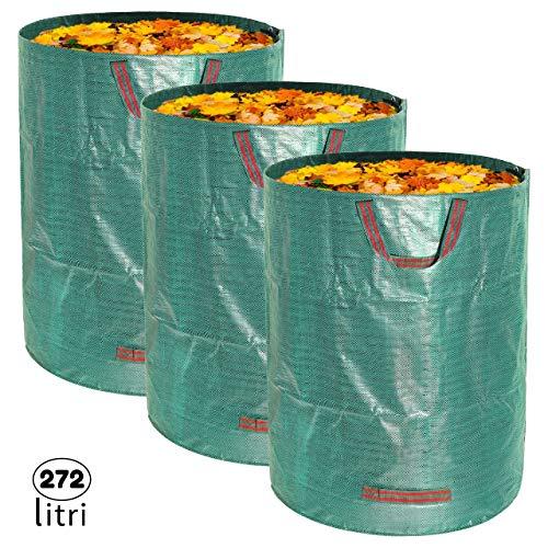 3x Sacchi da Giardinaggio Professionali per rifiuti da...