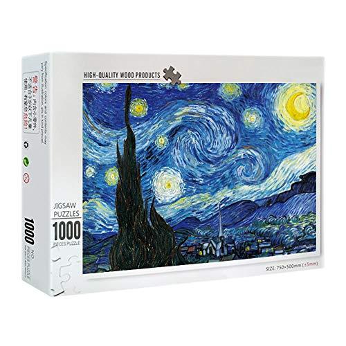 OKOUNOKO 3D Puzzle 150 Piezas, Cielo Estrellado, Rompecabezas Adultos Y Niños, Personalizado De Madera Montaje Rompecabezas Divertido, 10X15Cm