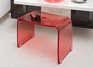 Favor 【フェイヴァ】 アクリル製 お風呂いす ピンク (M)※風呂椅子単品ご購入ページです。