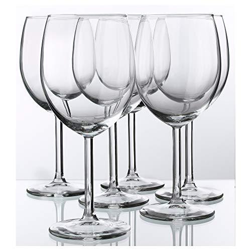 Red Wine Glass By Ikea- Svalka Series SET OF 6, 10 0Z