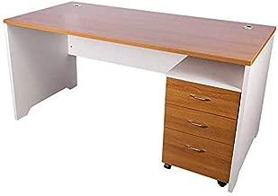 Mahmayi Zelda Contemporary Office Desk, D 75 x H 75 x W 160 cm, Light Walnut/White, ZHM246-16