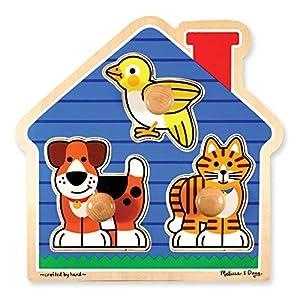 Melissa & Doug House Pets Jumbo Knob Puzzle, multi/none
