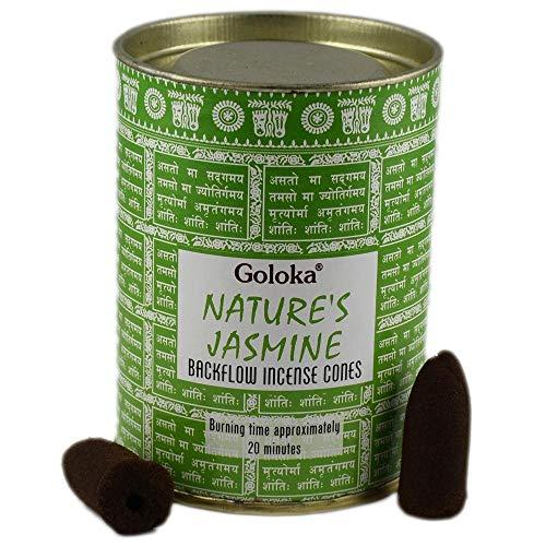 Goloka Incienso Nature´s Jasmine en conos - Jazmín