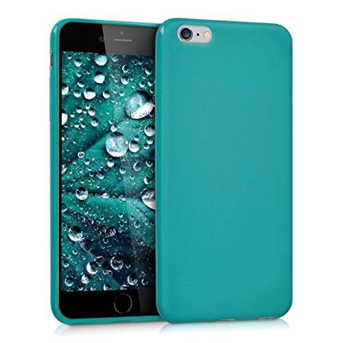 kwmobile Funda Compatible con Apple iPhone 6 Plus / 6S Plus - Carcasa de TPU Silicona - Protector Trasero en petróleo Mate