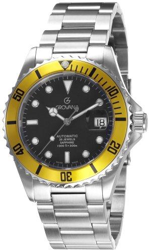 Grovana Herren-Taucherarmbanduhr Diver Automatic Yellow 1571.2138