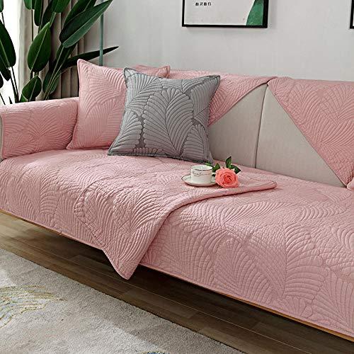 B/H Fundas de sofá de Esquina,Cojín de sofá Simple de Color Puro, Funda de sofá de algodón Antideslizante-D_110 * 240cm,Asiento Antideslizante sofá Funda Tejido