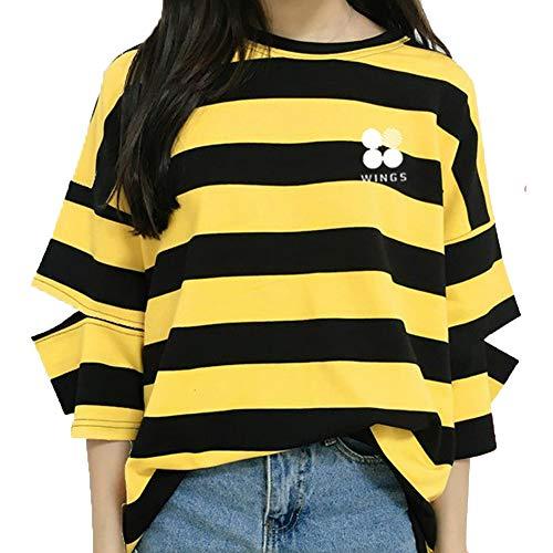T-Shirt Unisex KPOP Bangtan Boys Rundhals Shirt Kurzarm T-Shirt Suga Jin Jimin Jung Kook J-Hope Rap-Monster V Top für Liebespaar Herren Damen Jugendliche