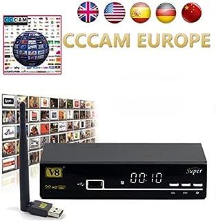HD Satellite TV Receiver Full powervu, cccam, bisskey V8 Super DVB-S2 IPTV Satellite Receiver hot sale better than opennbox v8s