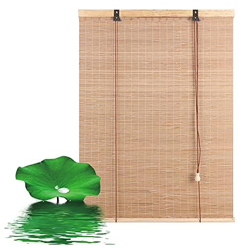 YSJX Cortina de bambú,Persiana de Bambú persianas Romanas,Estores de Bambú para Exteriores,persiana Enrollable Transpirable y a Prueba de Rayos UV,para pérgola de balcón, Cocina