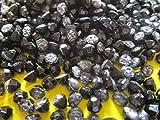 Roshanara 100 perlas de 4 mm, color negro, semiperlas, redondas, decorativas, elegantes PL 306
