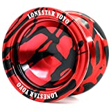 Supreme Yoyo Responsive Aluminum Yoyo with Extra Strings - Sidekick Lonestar Yoyo Series (Red & Black)
