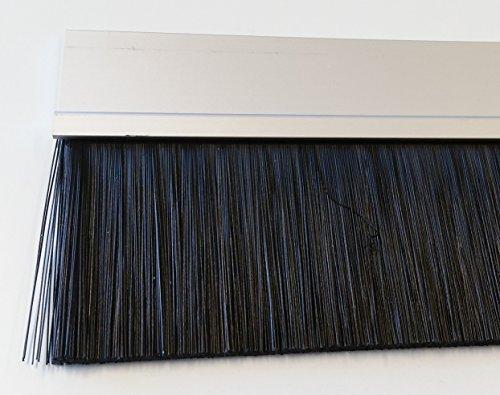 Bürstendichtung IBE100 PP Höhe 100 mm Alu silber eloxiert endbehandelt mit PP-Bürste Höhe Länge 100 cm