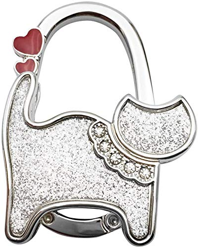 Tracksuit Baby Outfits Mini Cute Cat Folding Hanger Holder Table Hook For Purse Handbag Utility (Color : J)