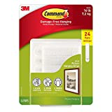 Command Picture & Frame Hanging Strips, Large (24 Pair) by Command