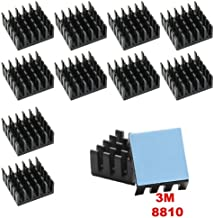 Gadgeter 10pcs Aluminum Heatsink Cooler Circuit Board Cooling Fin for Raspberry Pi,VGA RAM,IC Chips,Mosfet SCR,South Bridge,North Bridge, with 3M 8810 Thermally Conductive Heat Transfer Tape