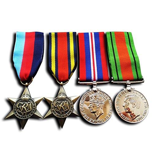 Militärische Medaillen 4 x 1945 Star birma Stern Krieg Medaille &Amp; Verteidigung Medaille WW2 Repro