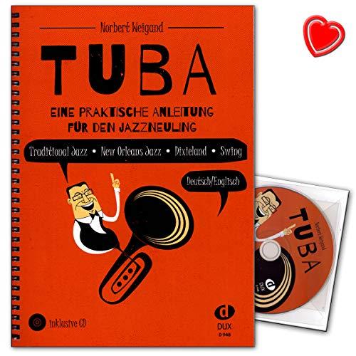 Tuba Eine praktische Anleitung für den Jazzneuling - Edition Dux 9783868493337 - Lehrbuch mit bunter herzförmiger Notenklammer