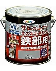 アサヒペン 油性高耐久鉄部用 グレー 0.7L