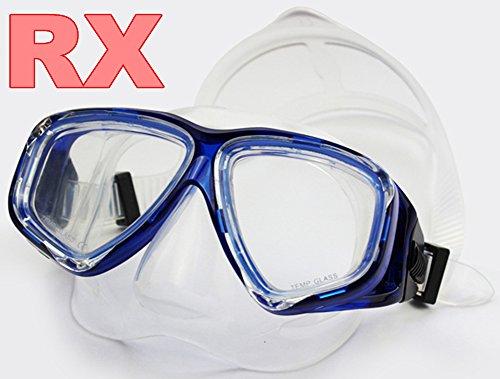 YEESAM ART Tauchermaske kurzsichtig Diving Tauch Schnorchel Maske NEARSIGHTED Verschreibung RX Sehstärke Korrekturmaßnahmen kurzsichtigen optische Schwimmbrille (Blau, -1.5)