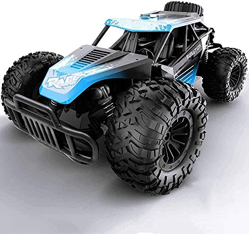 ADSVMEL RC Bigfoot Coche de control remoto 2.4 GHZ RC Coche Aleación Off Road Desierto Vehículo de cualquier terreno Niños Vehículo de carreras rápido Camión Juguete eléctrico para pasatiempos con rec