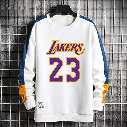 Herren Pullover Lakers 23# James, 24# Kobe Jersey Sweatshirt Langarm-Jumper Top Lässige Hoodie,D,XXXXL