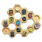 Estantes Medallas Hexágono Almacenamiento Estante Casas Decorativas Herramientas Racks Medal Album Casos de monedas para hogares Decoración de Dormitorio