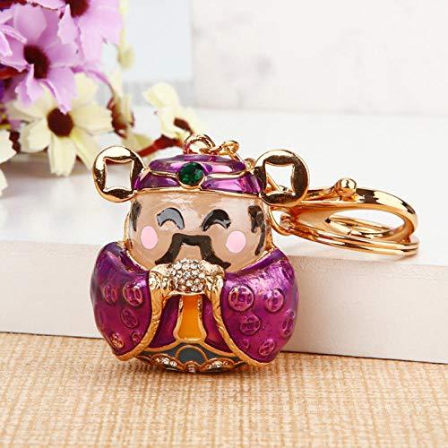 Sinzong sleutelringen voor meisjes leuke klok geluksauto sleutelhanger handtas hanger sleutelhanger C