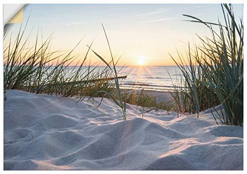 Artland Wandbild selbstklebend Vinylfolie 100x70 cm Wanddeko Wandtattoo Strand Meer Ostsee Maritim Küste Düne Landschaft Natur T9QU