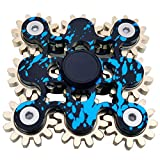 Hand Spinner Fidget Gyro Toy Brass Gears Linkage Design EDC Focus Meditation Break Bad Habits ADHD Spinner Fidget Spin Toy With Bearing (Gears B)