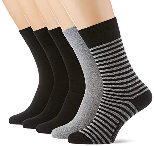 Schiesser Herren Multipack 5 Pack Herrensocken Strümpfe Socken, Sortiert 2, 39-42 EU