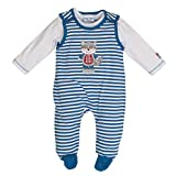 Salt & Pepper Baby-Jungen BG Playsuit Stripe Strampler, Blau (Blue Melange 455), 62
