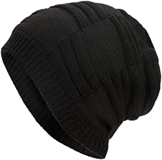 URIBAKE Women`s Men`s Knitted Baggy Weave Crochet Winter Warm Wool Ski Beanie Unisex Solid Skull Caps Hat