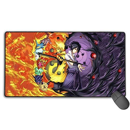 Best Laptop Pc Mouse Pad with Rubber Base Large High-Performance Naruto and Sasuke Mouse Mats Magic Gaming Mousepad for Boy Home