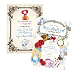 Alice Party Supplies Welcome to Wonderland Birthday (Invitation) 12 Included