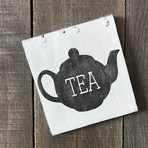 CELYCASY Tea Pot teken, Thee tijd, Thee en koffie, Thee decor, zoete thee, thee liefhebber geschenk, Koffie mok teken, boerderij huisje, thee teken, theepot decor