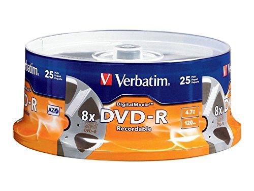 Verbatim DVD-R 4.7GB 8X - DigitalMovie Surface - 25pk Spindle - 94866