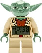 LEGO Kids' 9003080 Star Wars Yoda Minifigure Light Up Alarm Clock (7 Inches Tall)