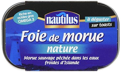 Nautilus Foie De Morue Nature 120 G - Lot De 6