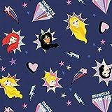 Disney Prinzessinnen Navy - 100% Baumwolle - ab 0,5 Meter