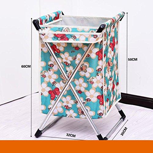 Xuan - Worth Another Bleu Petite Abeille Motif Plier Tissu Panier de vêtements Sales Panier de déchets Sale Jouets Paniers à Linge Vêtements Sales Panier de Rangement Pas de Couvercle